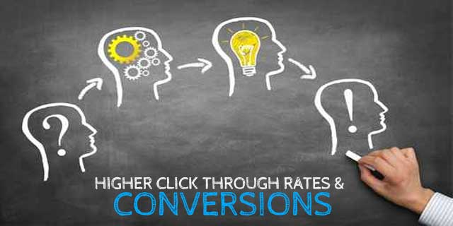 Higher conversion and click through rates for plumbers and plumbing websites