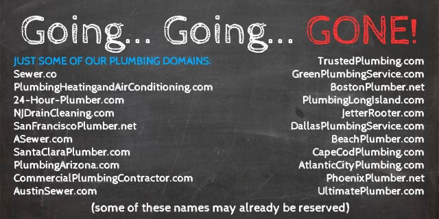 List of Best Plumbing Domains